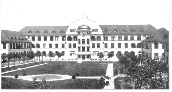 Fotografie: Krankenhaus der Israelitischen Gemeinde / Hauptgebäude. Frankfurt am Main, Gagernstr. 36.