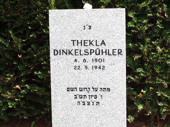 Fotografie: Grab von Thekla Dinkelspühler, Jüdischer Friedhof Eckenheimer Landstraße, Frankfurt a.M., 2011