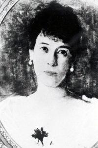 Gemälde: Minka von Goldschmidt-Rothschild (Fotografie von einem Gemälde, undatiert).