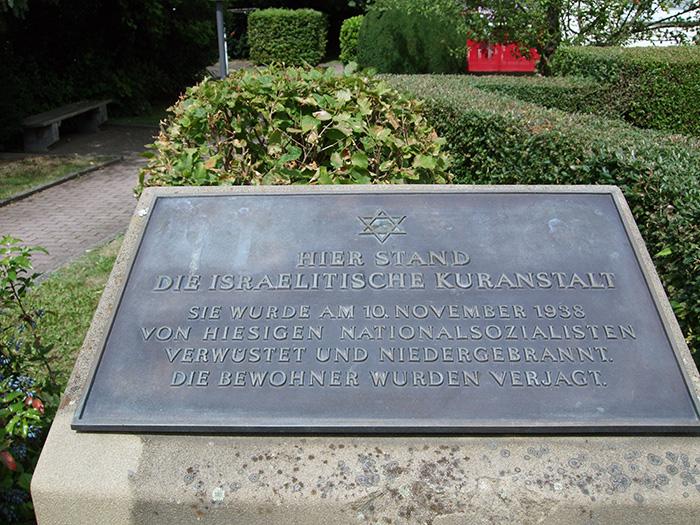 Gedenkstein: für die 1938 zerstörte Israelitische Kuranstalt zu Bad Soden, 2013