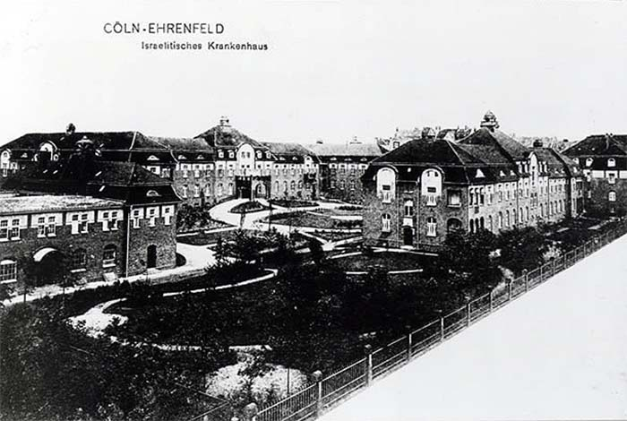 Fotografie: Frieda Brüll - Jüdisches Krankenhaus Köln / Oberin Frieda (Brüll) Wollmann: Jüdisches Krankenhaus Köln mit Schwesternhaus und Altersheim, 1908 (Arbeitsstätte)