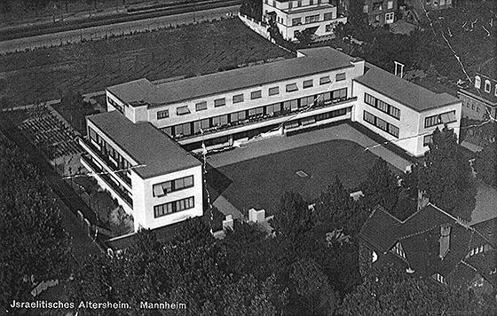 Fotografie: Israelitisches Altersheim Collinistraße, Mannheim.