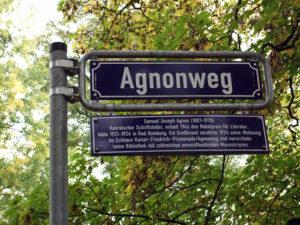 Agnonweg-Strassenschild