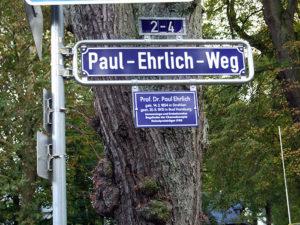 Paul-Ehrlich-Weg-Strassenschild