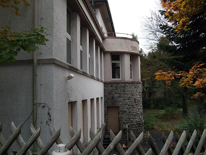 Fotografie: Bad Homburg, Sanatorium Dr. Goldschmidt in Gonzenheim, Teilansicht des Gebäudes, 16.10.2013